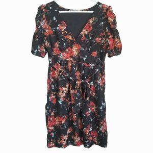 UTTAM LONDON / Floral Tie Waist Mini Dress